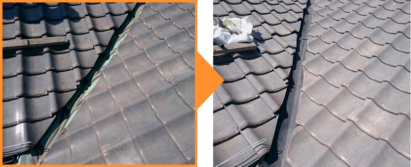 屋根工事の施工例